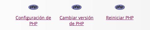Panel de Hosting: PHP