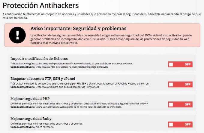 Protección Antihackers