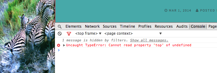 WordPress errores Javascript
