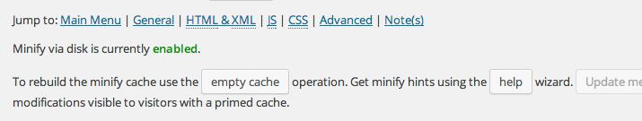 W3TC unificar archivos CSS y Javascript