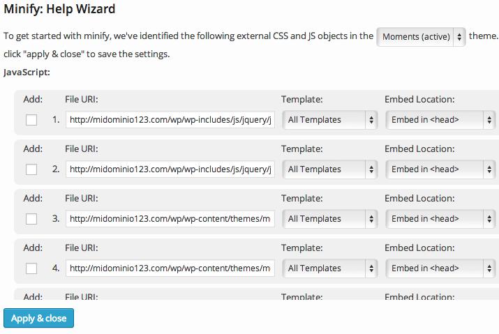W3TC unificar archivos CSS y Javascript 2