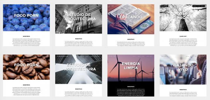 Miniweb: Nuevos diseños