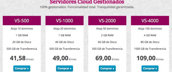 Servidores Cloud Gestionados