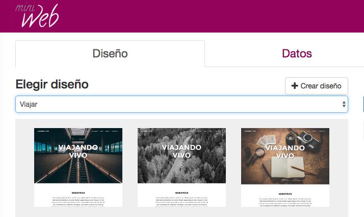 Themes del editor Miniweb